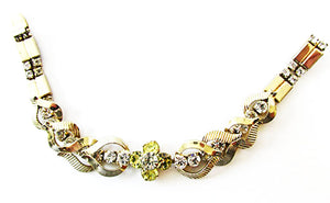 Sarah Coventry Vintage 1960s Book Piece Retro Floral Bracelet