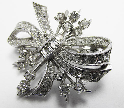Beautiful Vintage Retro 1940s Floral Pin/Pendant