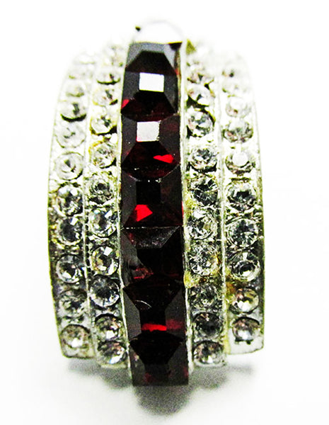 Vintage Art Deco Extraordinary 1930s Geometric Rhinestone Dress Clip