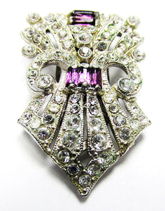 Beautiful Vintage Retro 1930s Art Deco Dress Clip