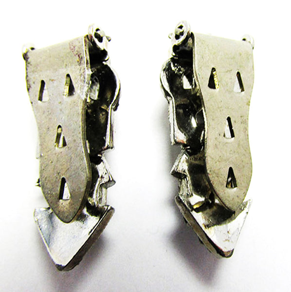 Vintage 1930s Pair of Exquisite Delicate Art Deco Dress Clips