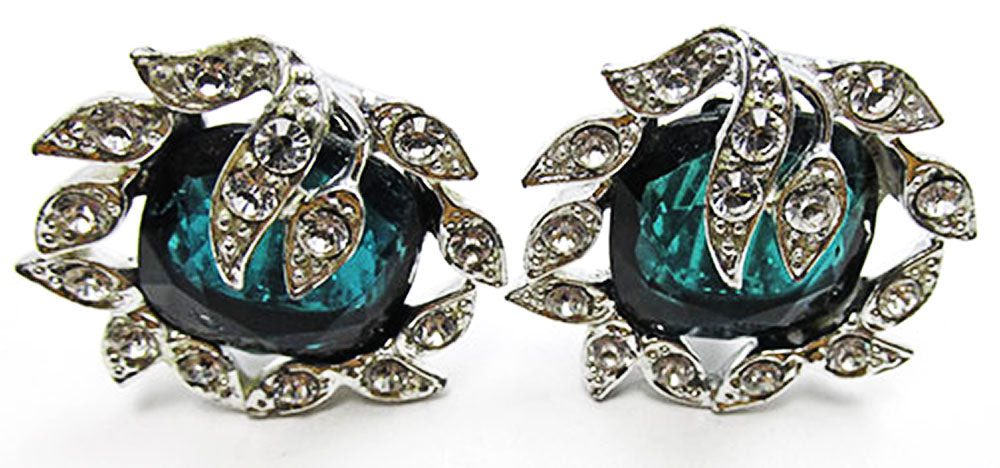 Sarah Coventry Vintage Glamorous Retro Geometric Earrings