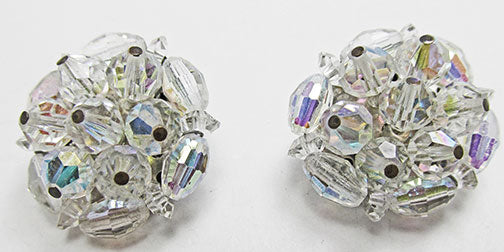 Laguna Vintage Dazzling Mid-Century Crystal Button Style Earrings