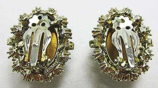 Vintage Mid Century 1950s Eye-Catching Button Earrings