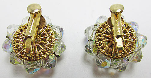 Vendome Vintage 1960s Contemporary Rhinestone and Crystal Earrings