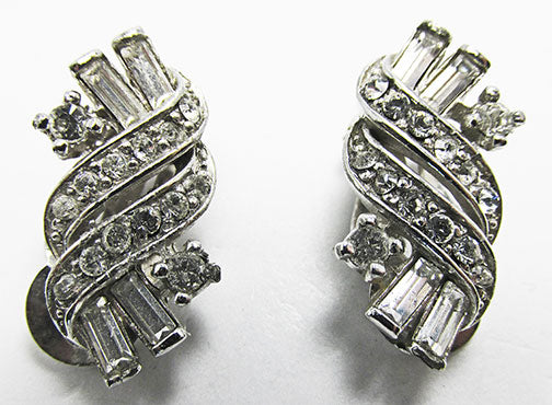 Pennino Vintage Retro Beautiful Contemporary Style Rhinestone Earrings