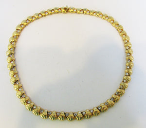 Vintage 1960s Sophisticated  Contemporary Style Link Necklace