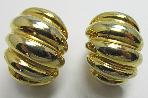 Vintage 1960s Eye-Catching Retro Contemporary Style Hoop Earrings
