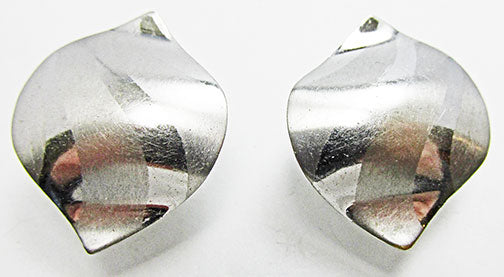 Volupte Vintage Rare 1950 Unique Mid Century Silver Geometric Earrings
