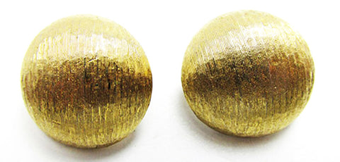 Monet 1960s Desirable Vintage Retro Gold Button Style Earrings