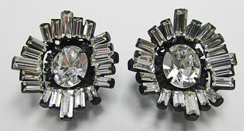 Hattie Carnegie Retro 1940s Dramatic Geometric Earrings
