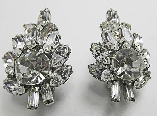 Vintage Mid Century 1950s Dazzling Leaf Earrings