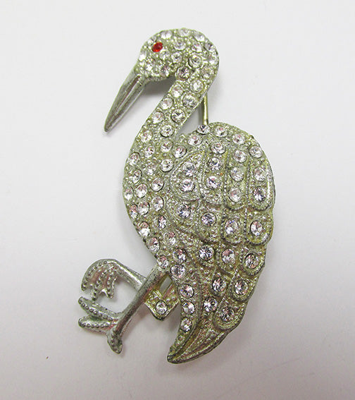 Vintage Book Piece 1930s Beautiful Figural Bird Pin