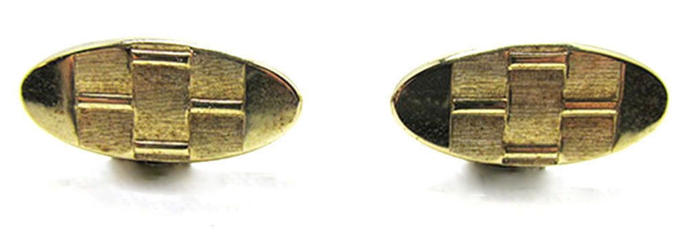 Vintage Men's Jewelry 1960s Distinctive Contemporary Style Cufflinks - Front