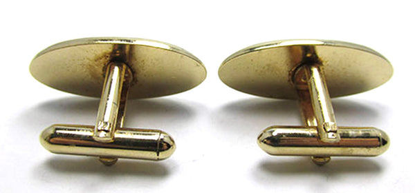 Vintage Men's Jewelry 1960s Distinctive Contemporary Style Cufflinks - Back