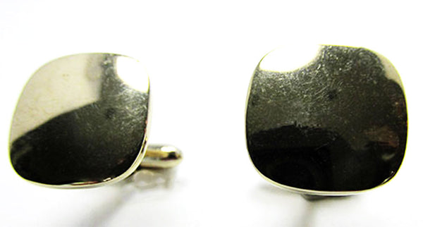 Vintage 1960s Men's Jewelry Handsome Mid-Century Geometric Cufflinks - Front
