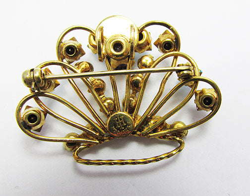 Harry Iskin Vintage 1940s Striking Gold Filled Crown Pin/Necklace