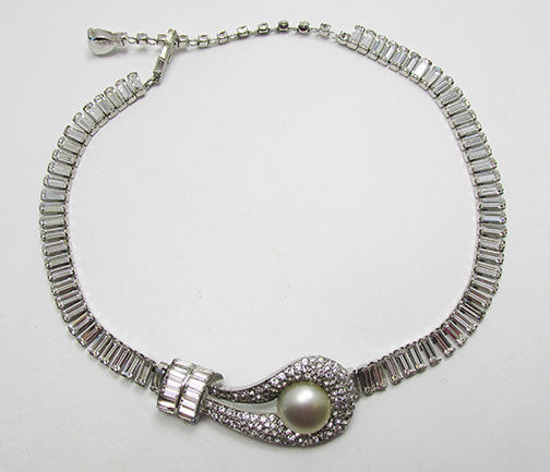 Jomaz Vintage Retro 1940s Exquisite Rhinestone Choker Necklace