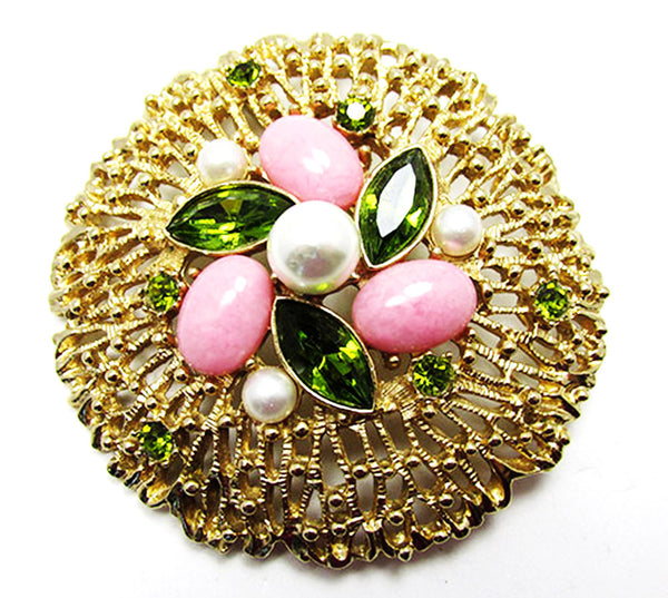 Sarah Coventry Vintage 1960s Iconic Book Piece Floral Pin and Earrings