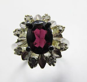 Lovely Vintage Retro Sterling Silver Gemstone Fashion Ring