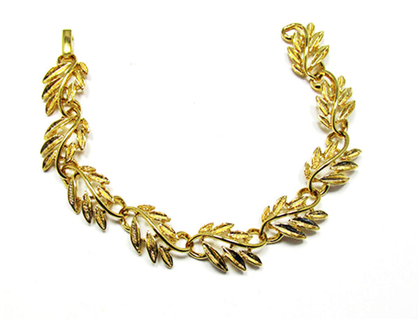 Napier 1960s Vintage Jewelry Gorgeous Leaf Necklace and Bracelet - Bracelet