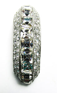 Vintage Art Deco Retro 1930s Gorgeous Rhinestone Dress Clip