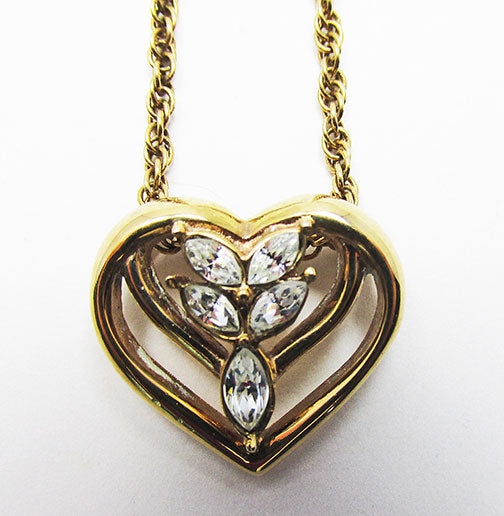 Krementz Vintage Retro Flawless Contemporary Style Heart Pendant