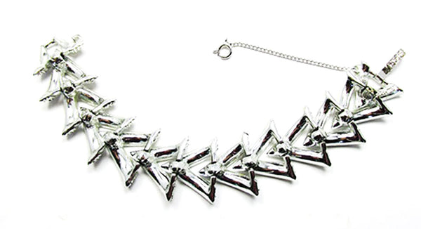 Sarah Coventry Vintage Jewelry 1960s Geometric Diamante Bracelet - Back