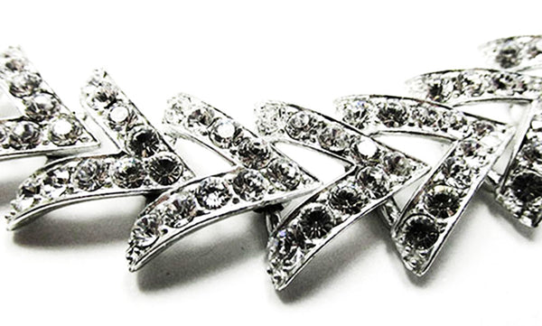 Sarah Coventry Vintage Jewelry 1960s Geometric Diamante Bracelet - Close Up