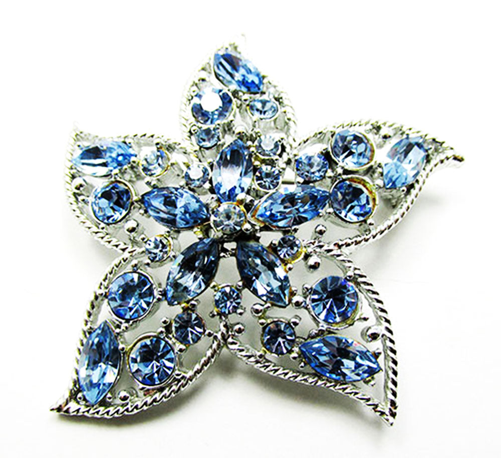 Sarah Coventry Vintage 1960s Beautiful Retro Star Fire Sapphire Pin