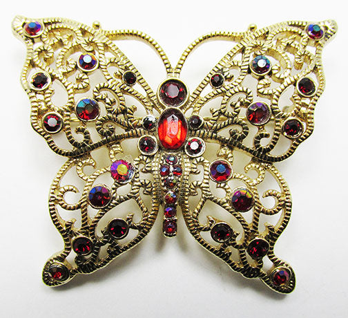 Liz Claiborne Vintage Flawless Figural Rhinestone Butterfly Pin