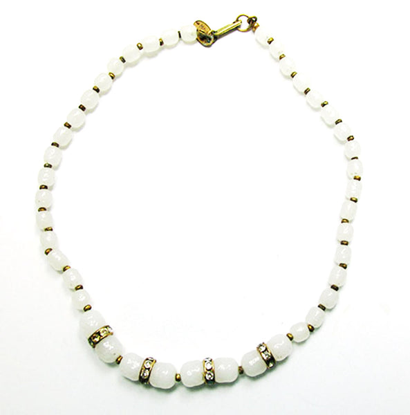 Desirable Miriam Haskell 1950s Mid-Century Unique Choker Necklace