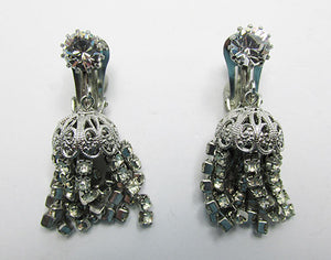 Irresistible Weiss Vintage 1950s Mid-Century Rhinestone Drop Earrings