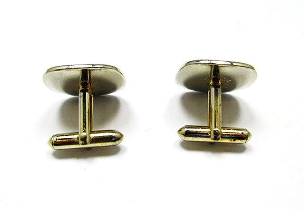 Swank 1950s Vintage Jewelry Men's Mid-Century Etched Cufflinks - Back