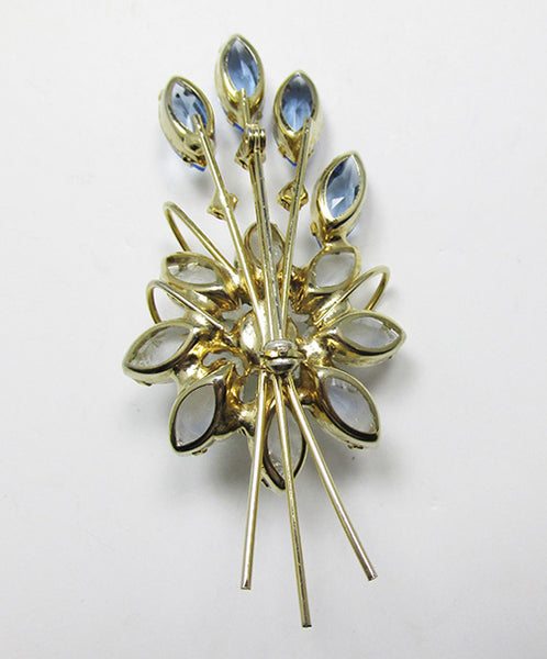 Vintage 1950s Stunning Three Dimensional Floral Bouquet Pin