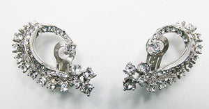 R. DeRosa Vintage Mid Century Gorgeous Rhinestone Earrings