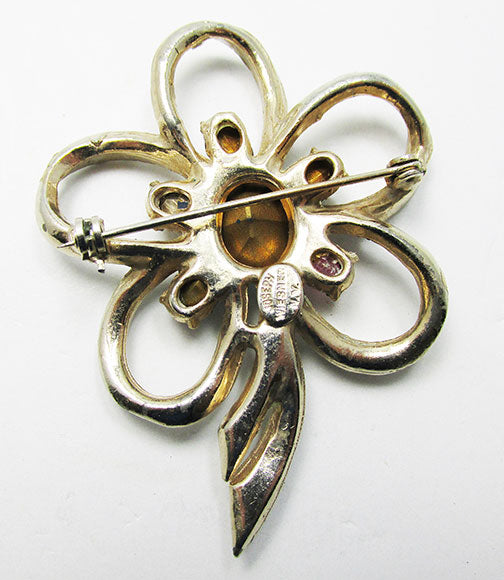 Joseph Wiesner NY Vintage 1940s Beautiful Retro Floral Ribbon Pin
