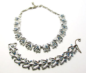 Gorgeous Star Vintage Mid-Century Iridescent Necklace and Bracelet Set
