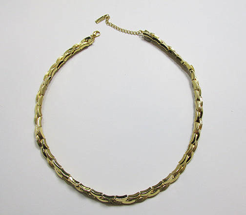 Napier Vintage 1980s Retro Contemporary Style Gold Link Necklace