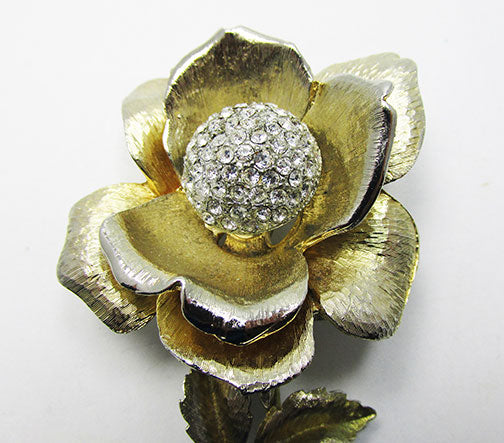 Vintage 1950s Mid Century Awesome Rose Trembler Pin