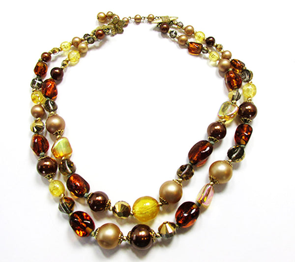 Vendome 1960s Vintage Shades of Autumn Necklace and Earrings Set - Necklace