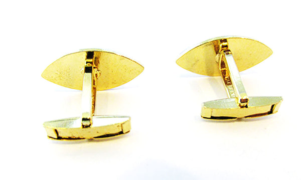 Vintage 1960s Men's Jewelry Contemporary Style Gold Cufflinks - Back