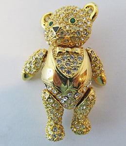 Joan Rivers Vintage Contemporary Style Adorable Teddy Bear Pin