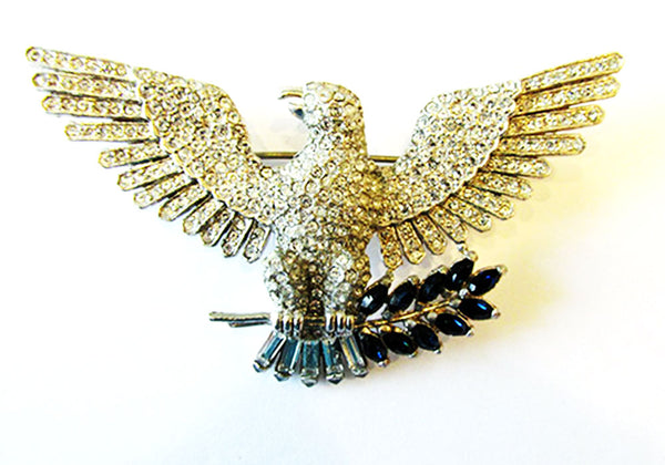Vintage 1940s Magnificent Iconic Sterling Figural American Eagle Pin