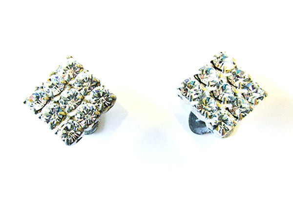 Vintage 1930s Accessory Dainty Geometric Diamante Shoe Clips - Front