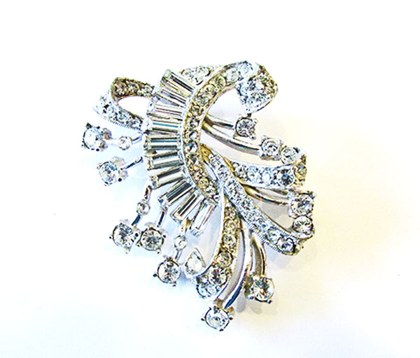 Vintage 1950s Magnificent Mid-Century Sparkling Rhinestone Pin/Pendant