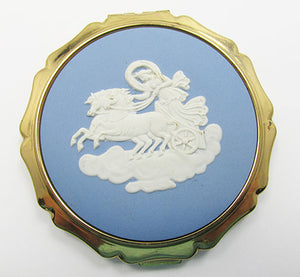 Stratton Vintage 1950s Mid Century Wedgewood Cameo Powder Compact