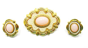 Vintage 1960s Retro Contemporary Style Stylish Pin and Earrings Set