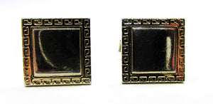 Vintage 1960s Flawless Retro High Caliber Gold Geometric Cufflinks