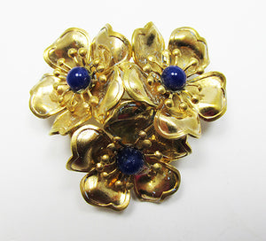 Vintage Mid Century 1950s Unique Three Dimensional Floral Pin